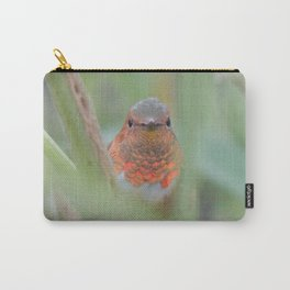 An Allen's Hummingbird Amid Mexican Sage Carry-All Pouch