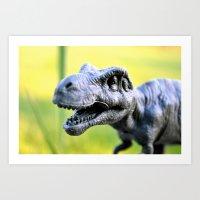 Happy Dino Art Print