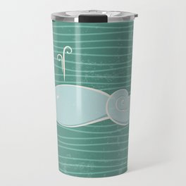 whale in the waves Travel Mug