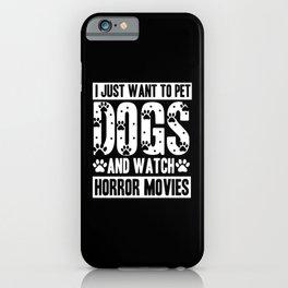 Halloween Pet Watch Horror Movies Dog iPhone Case