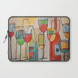 Abstract Modern Wine Art / Wine Tasting Laptop Sleeve