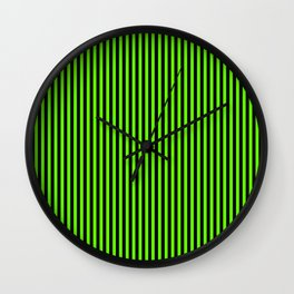 Striped black and light green background Wall Clock