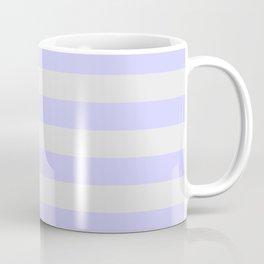 Lavender & Gray Stripes Coffee Mug