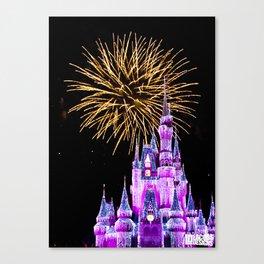Magic Kingdom - Fireworks Canvas Print