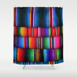 Shower Serape, Sleepy Serape Shower Curtain
