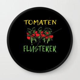 Tomato Whisperer Gift Idea Gardener Wall Clock