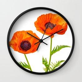 Two beautiful  poppies Wall Clock