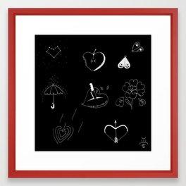 Heart-shaped illustrations Framed Art Print