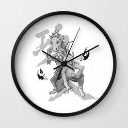 KungFu Zodiac - Horse and Goat Wall Clock