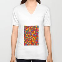 cinema V-neck T-shirts featuring - cinema - by Magdalla Del Fresto