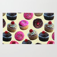 cupcakes Area & Throw Rugs featuring Cupcakes by Tangerine-Tane