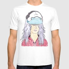 The Young Soul MEDIUM White Mens Fitted Tee
