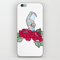 pin-up and roses iPhone & iPod Skin
