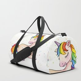 Sleeping Rainbow Unicorn Duffle Bag