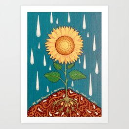 All the flowers of tomorrow Art Print