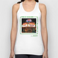 theatre Tank Tops featuring Plaza Theatre by ATL Landmark Art (Robyn Siani)