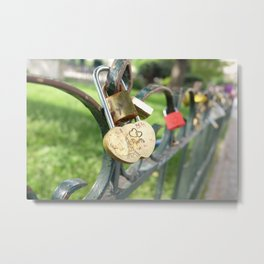 Love Locked in Paris Metal Print