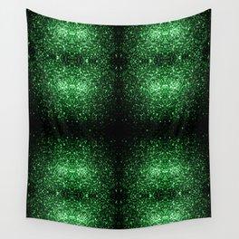 Glamour Dark Green glitter sparkles Wall Tapestry