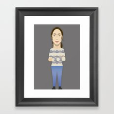 Watching The Detectives #1: Portrait Framed Art Print