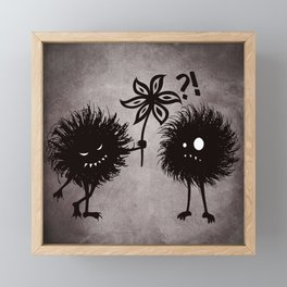 Kind Evil Bugs Framed Mini Art Print