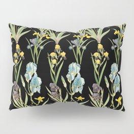 Irises 2 | Iris Flowers | Vintage Floral Pattern | Flower Patterns | Pillow Sham