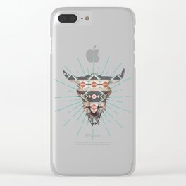 Cow Skull Induco Clear iPhone Case