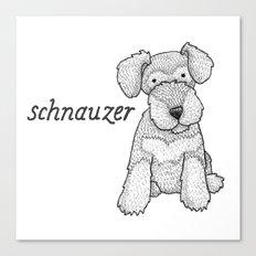 Dog Breeds: Schnauzer Canvas Print