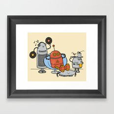 A comfortable future  Framed Art Print