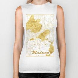 Madison Map Gold Biker Tank