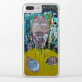 Mad Man Clear iPhone Case