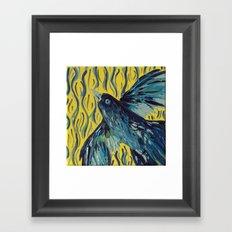 Blue Bird of Happiness Framed Art Print