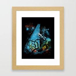 diving danger Framed Art Print