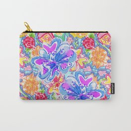 Festive Floral Carry-All Pouch