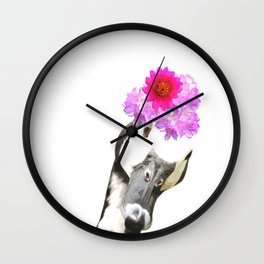 Goose funny farm animal illustration Wall Clock