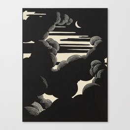 Félix Vallotton Wolken, 1890 Midnight Moon Night Clouds Canvas Print