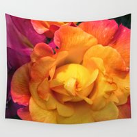 rio Wall Tapestries featuring Rio Roses by Ruth Adams