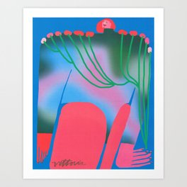 Shoulder Lilies Art Print