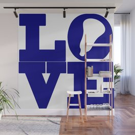 Lacrosse Love Navy Blue Wall Mural