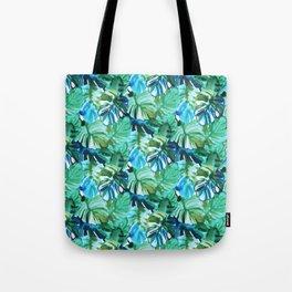 Palm Leaf Green Tote Bag
