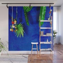FUNK BLUE + FLEURS Wall Mural