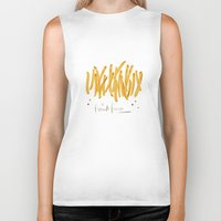 french fries Biker Tanks featuring French Fries #glamfood by Silbox