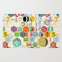 math Area & Throw Rugs featuring Math in color by Chicca Besso