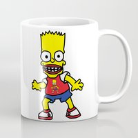 simpson Mugs featuring Bart Simpson by GOONS