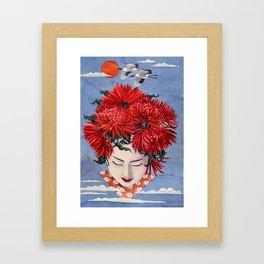 Gaisha Flower girl Framed Art Print