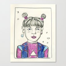 Super Nova Girl Canvas Print