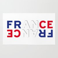 france Area & Throw Rugs featuring France by CHR Design Posters