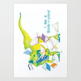 I am a Book-i-vore! Art Print