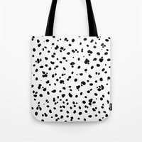 lunar Tote Bags featuring LUNAR by K.Lewis Illustration