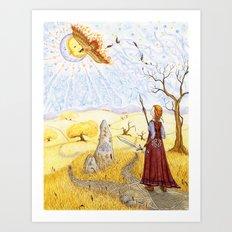 The Hawk of Achill Art Print