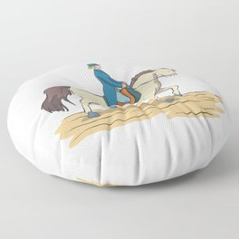 Dressage riding Floor Pillow